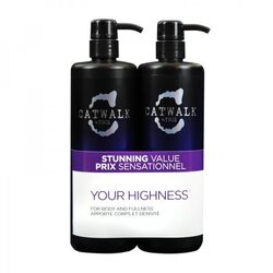 Tigi Catwalk Your Highness Elevating 750Ml Shampoo + 750Ml Conditioner