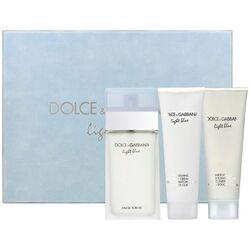 Dolce & Gabbana Light Blue 100ml Apă De Toaletă + 100ml Loțiune de corp + 100ml Gel de duș Travel