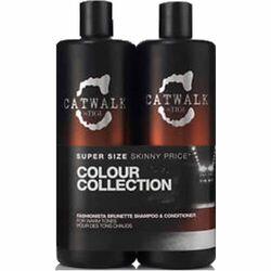 Tigi Catwalk Fashionista Brunette 750Ml Shampoo + 750Ml Conditioner