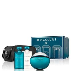 Bvlgari Aqua 100Ml Apă De Toaletă + 75Ml After Shave Balsam + 75Ml Gel de duș + Bag III